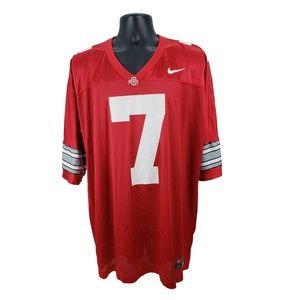 Vtg. Nike Ohio St Football Jersey Red White XL #7